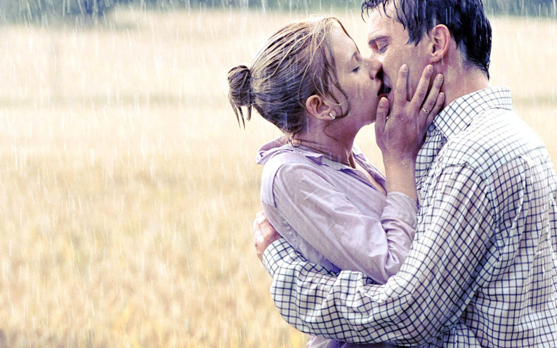 kiss in the rain full hd wallpaper and background image | 1920x1200
