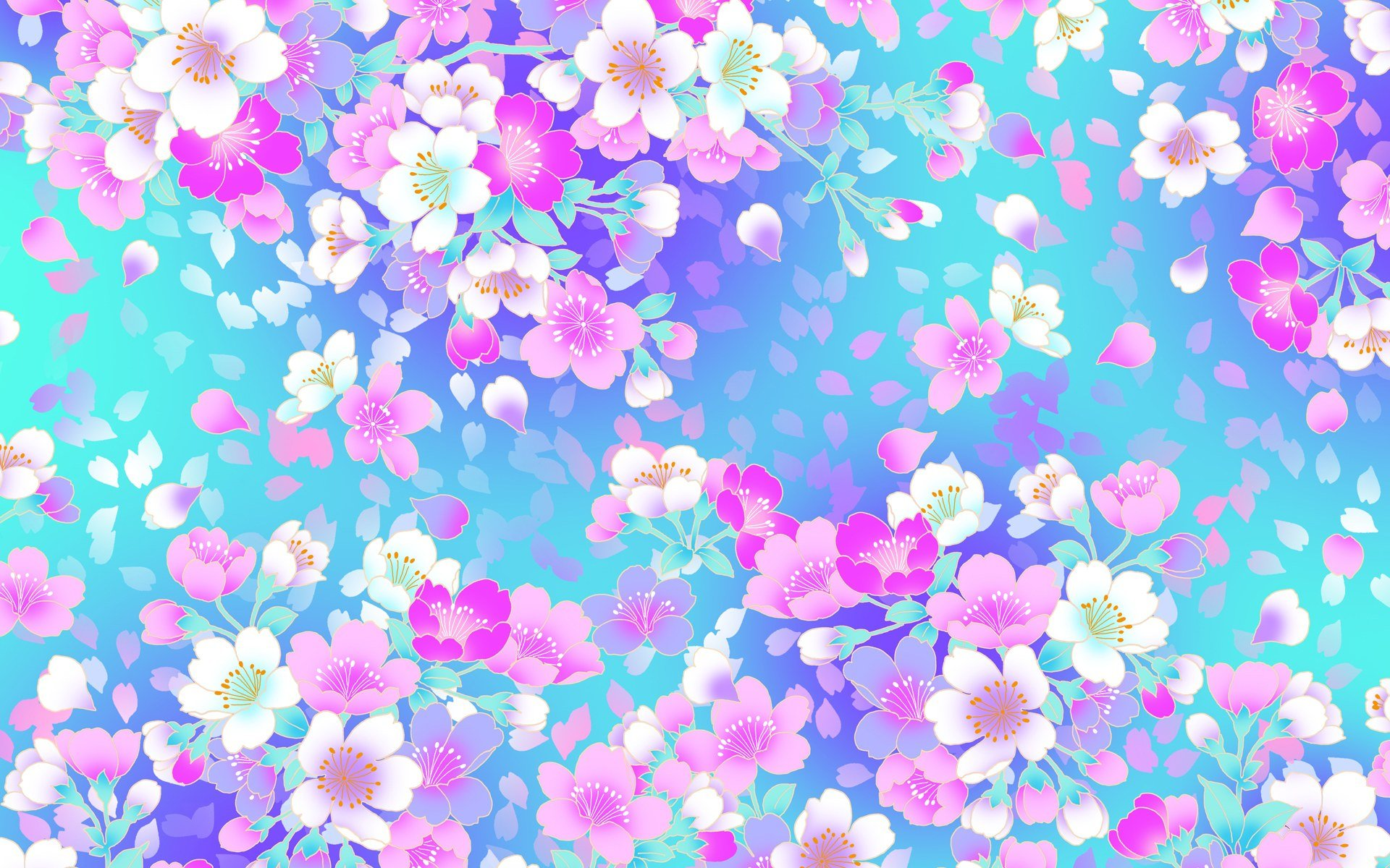 Floral art full hd wallpaper and background image 1920x1200 id artistic flower artistic floral pink flower blue white flower wallpaper mightylinksfo