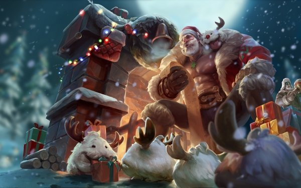 Video Game League Of Legends Braum Gift Christmas Creature HD Wallpaper   Background Image