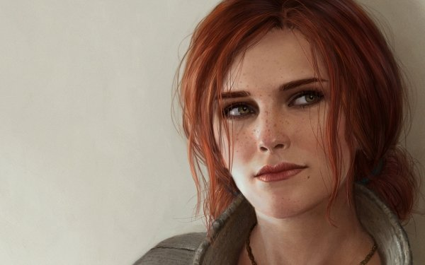 Video Game The Witcher 3: Wild Hunt The Witcher Triss Merigold Face Red Hair Green Eyes Freckles HD Wallpaper | Background Image