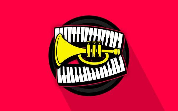 Music Artistic Keyboard Pink Trumpet HD Wallpaper | Background Image