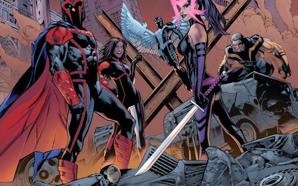Comics Uncanny X-Men X-Men Magneto Archangel Psylocke Sabertooth HD Wallpaper | Background Image