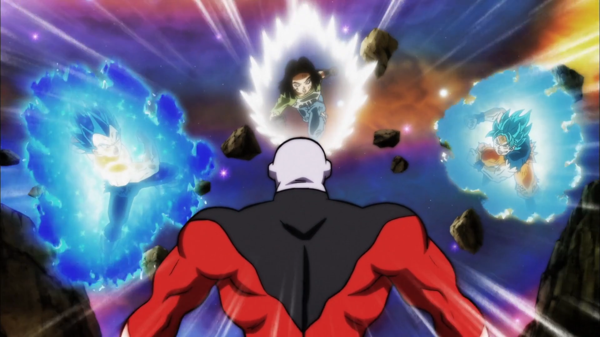 Vegeta C 17 And Son Goku Vs Jiren Fondo De Pantalla Hd