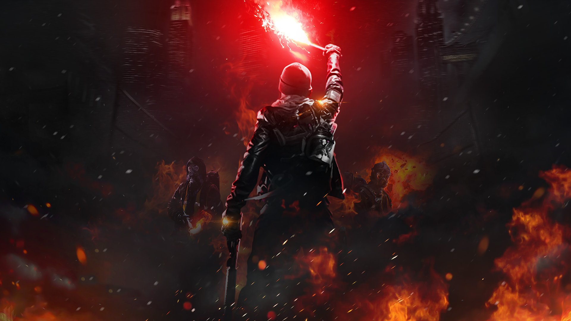 Video Game - Tom Clancy's The Division  Soldier Fire Man City Wallpaper