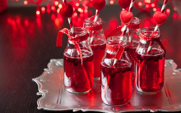 Food Drink Heart Cocktail Cranberry Berry HD Wallpaper | Background Image