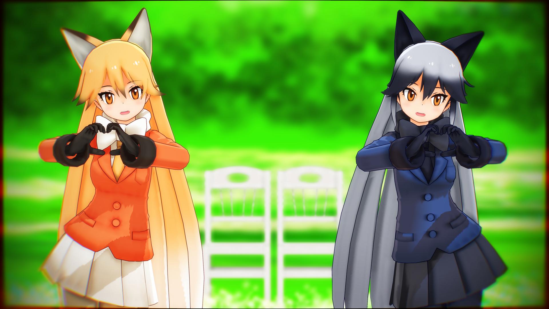Ezo Red Fox And Silver Fox Fondo De Pantalla Hd Fondo De
