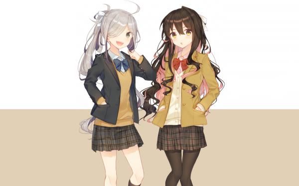 Anime Kantai Collection Asashimo Naganami HD Wallpaper   Background Image