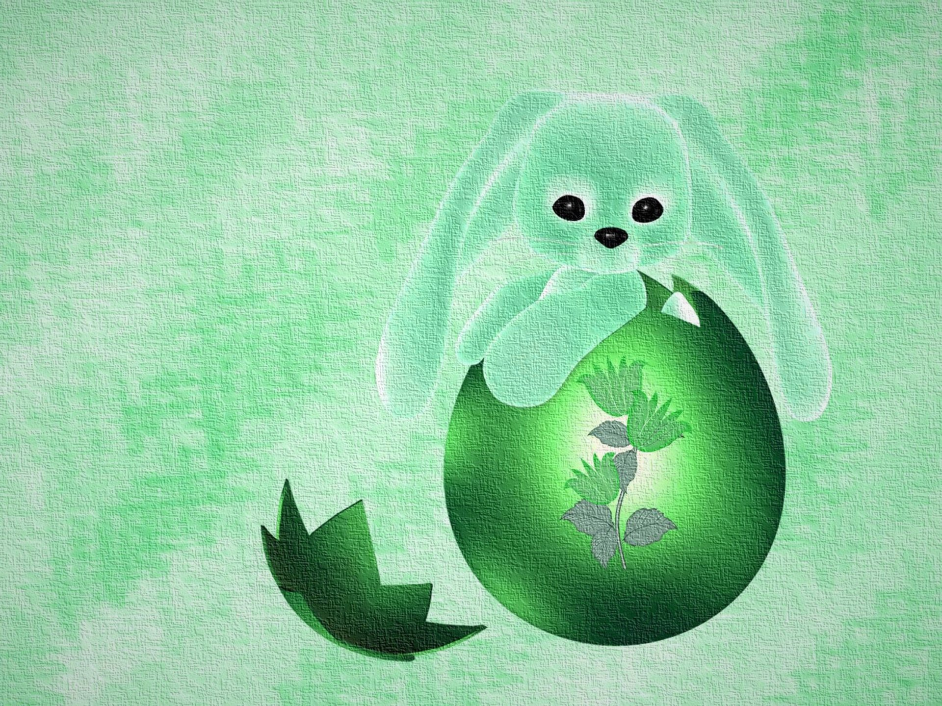 Helgdag - Easter  Helgdag Bunny Grön Easter Egg Bakgrund