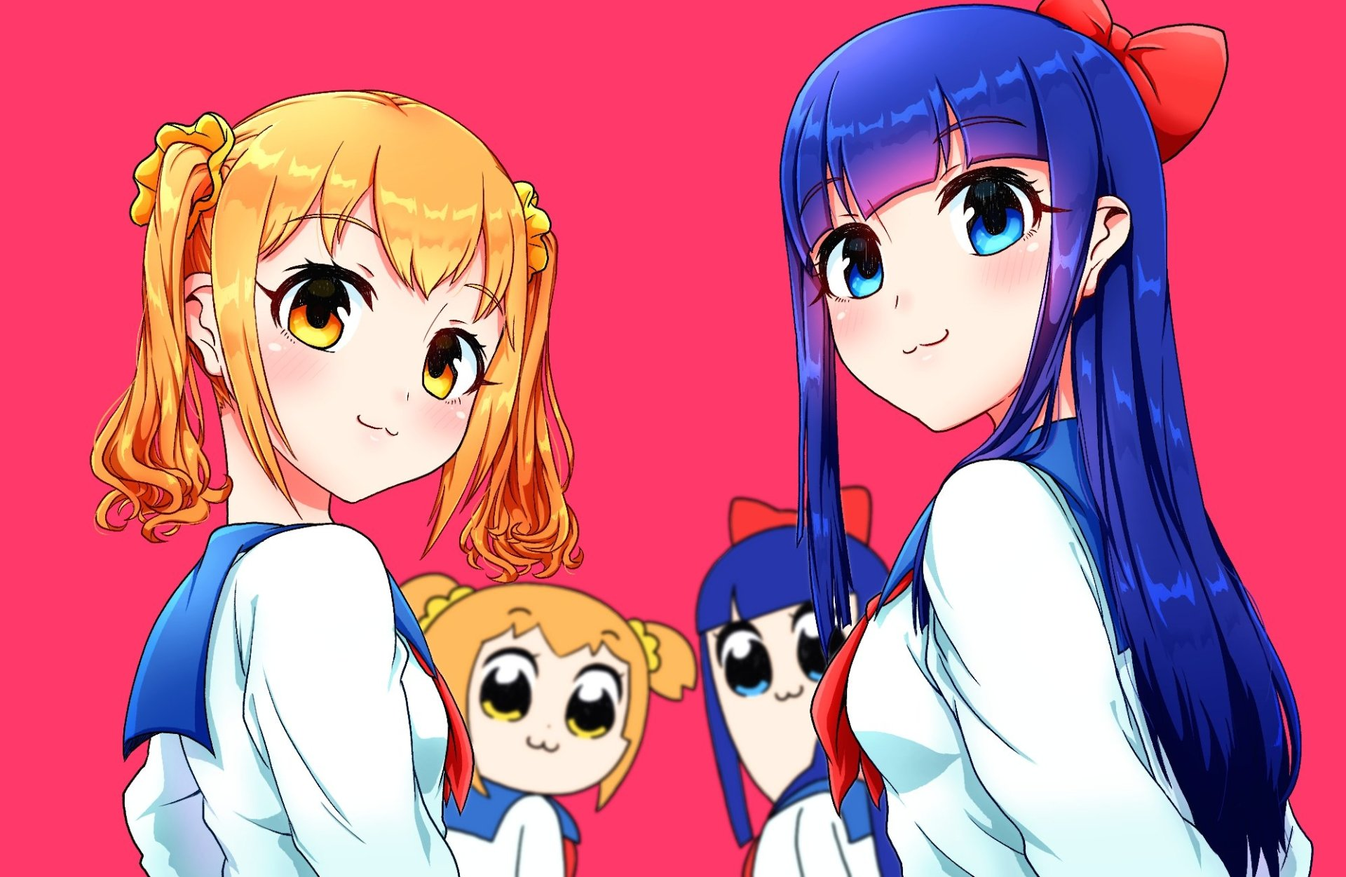 Anime - Pop Team Epic  Pipimi (Pop Team Epic) Popuko (Pop Team Epic) Wallpaper