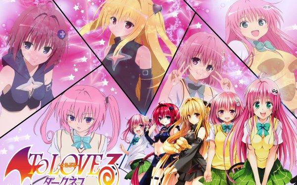 Anime To Love-Ru Lala Satalin Deviluke Momo Velia Deviluke Golden Darkness Mea Kurosaki Nana Astar Deviluke HD Wallpaper | Background Image