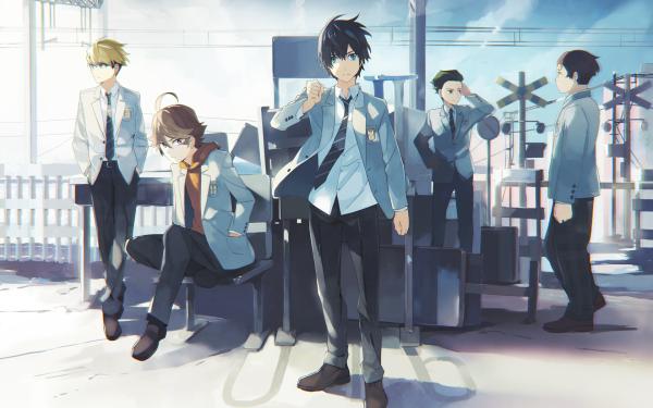 Anime Darling in the FranXX Futoshi Goro Hiro Mitsuru Zorome HD Wallpaper | Background Image