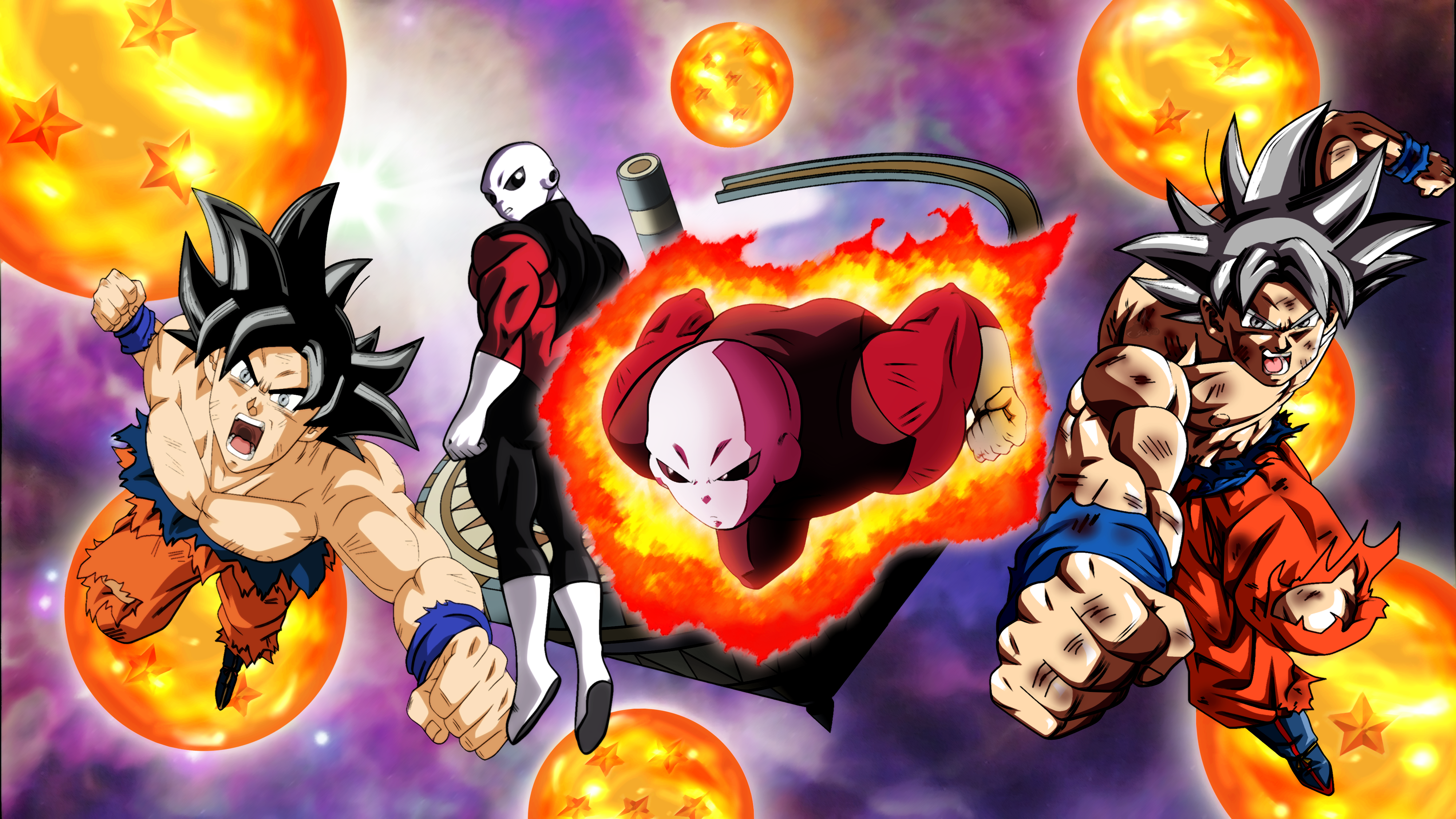 Goku Mastered Ultra Instinct And Jiren 4k Ultra Hd Wallpaper
