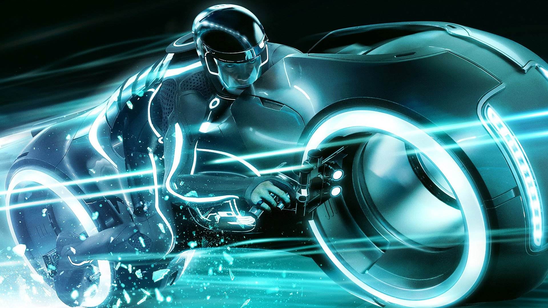Tron Legacy Biker Full HD Wallpaper And Background Image