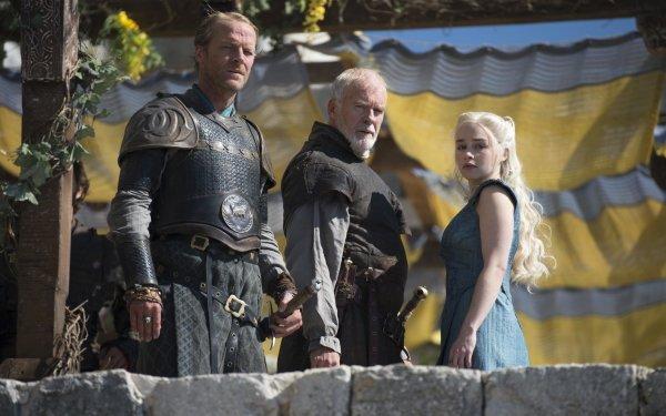 TV Show Game Of Thrones Jorah Mormont Barristan Selmy Daenerys Targaryen Iain Glen Ian McElhinney Emilia Clarke HD Wallpaper | Background Image
