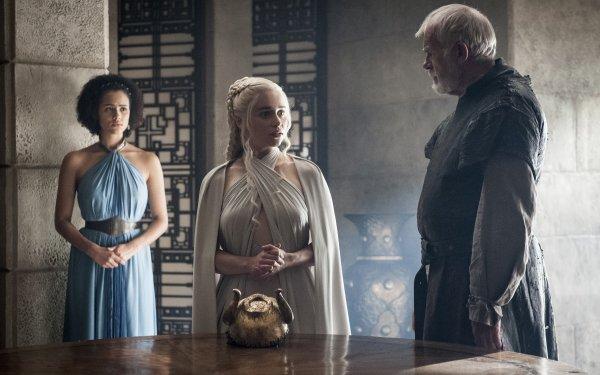 TV Show Game Of Thrones Missandei Daenerys Targaryen Barristan Selmy Nathalie Emmanuel Emilia Clarke Ian McElhinney HD Wallpaper | Background Image