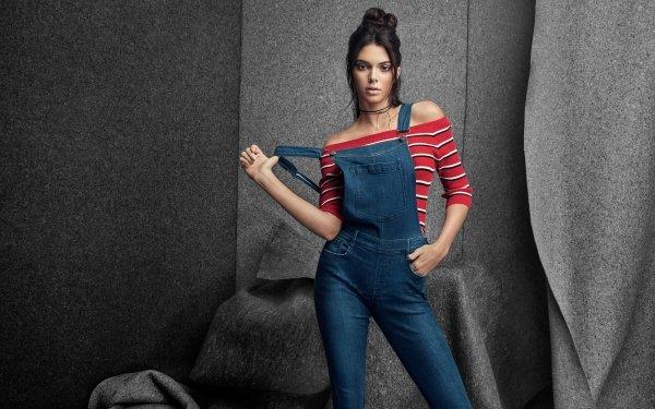 Celebrity Kendall Jenner Models United States Model American Brunette Brown Eyes HD Wallpaper   Background Image