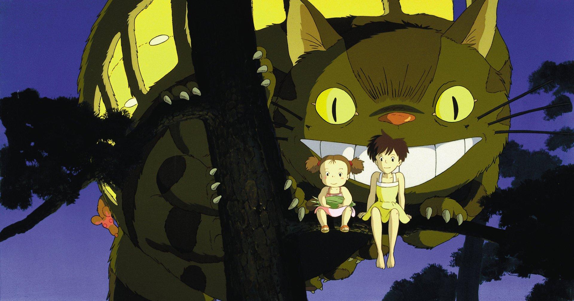 Movie - My Neighbor Totoro  Catbus (My Neighbor Totoro) Mei Kusakabe Satsuki Kusakabe Wallpaper