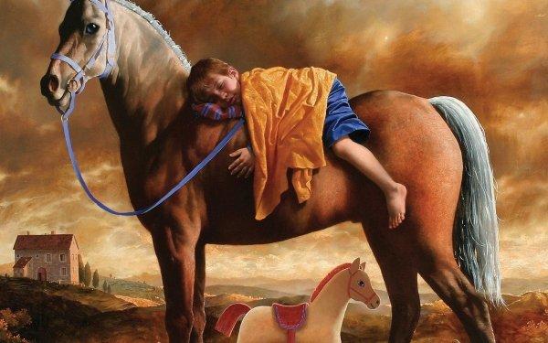 Djur Häst Sleeping Feet HD Wallpaper | Background Image
