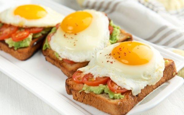 Alimento Huevo Pan Tomate Toast Fondo de pantalla HD | Fondo de Escritorio