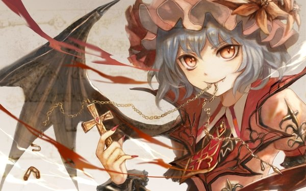 Anime Touhou Remilia Scarlet HD Wallpaper | Background Image