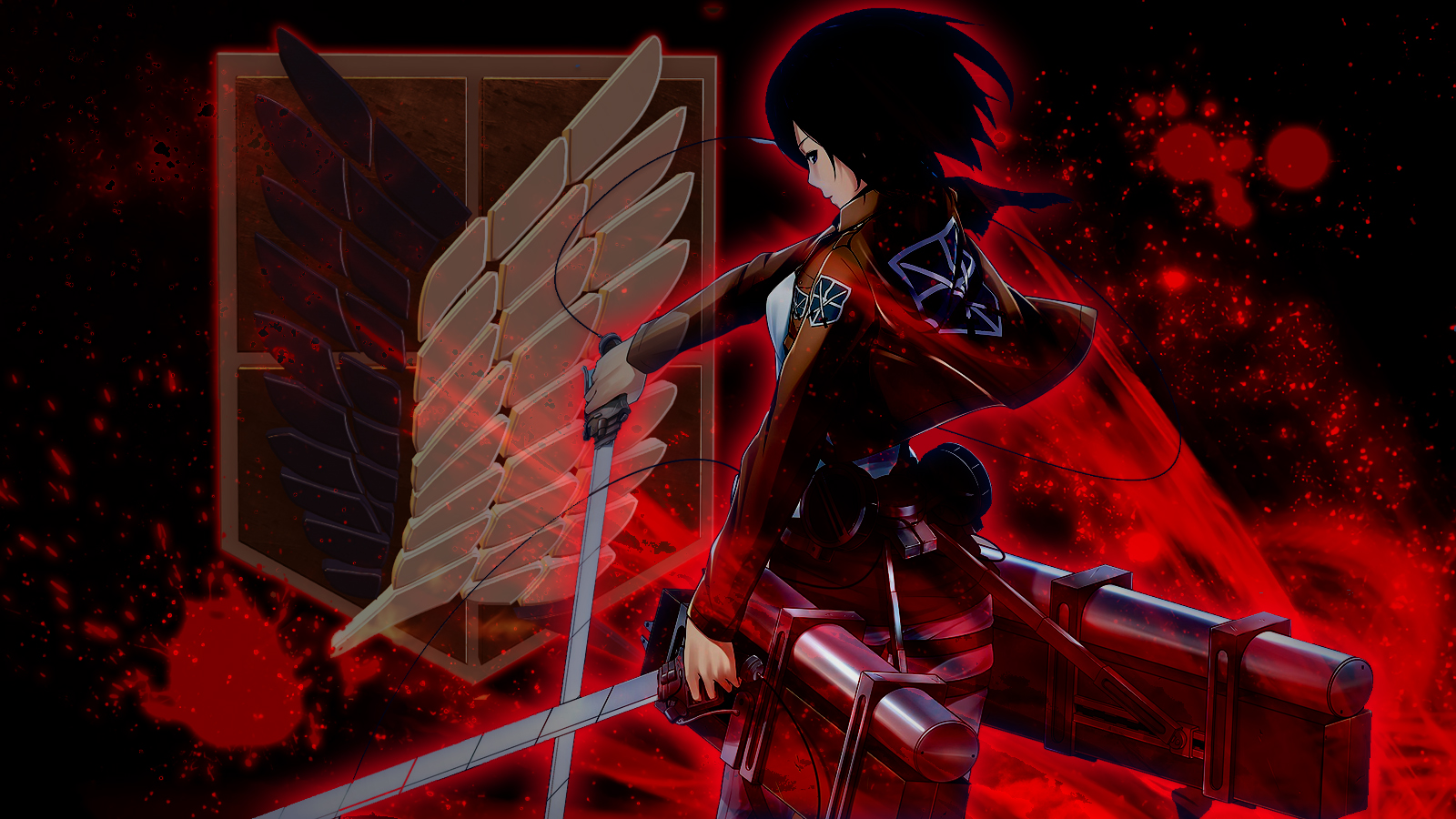 Mikasa Ackerman Wallpaper And Background Image 1600x900 Id 915774 Wallpaper Abyss