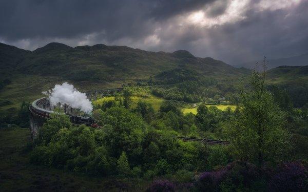 Vehicles Train Landscape Steam Train Greenery HD Wallpaper   Background Image