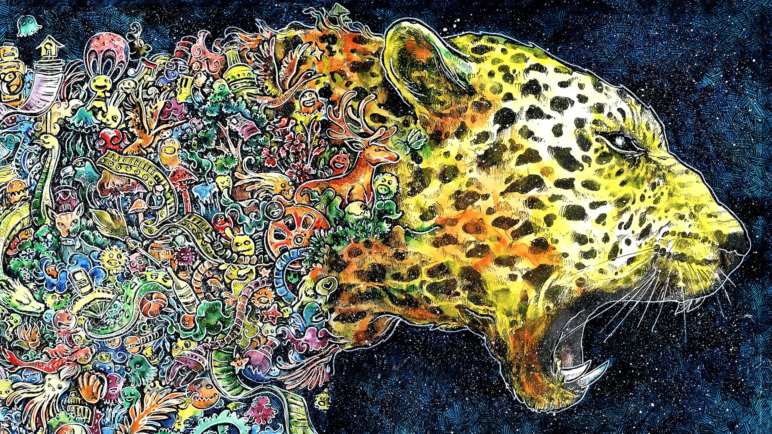 Cheetah Artwork Hd Wallpaper Background Image 2560x1440