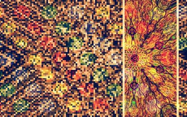 Abstract Digital Art Colors Pixel Art HD Wallpaper   Background Image