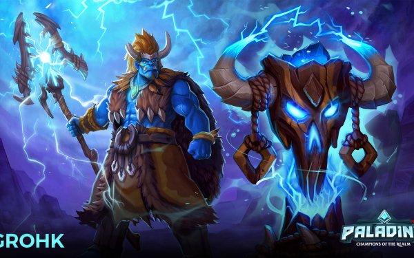 Video Game Paladins Grohk HD Wallpaper   Background Image