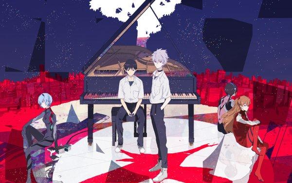 Anime Evangelion: 3.0 You Can (Not) Redo Evangelion Neon Genesis Evangelion Shinji Ikari Kaworu Nagisa Asuka Langley Sohryu Mari Makinami Illustrious Rei Ayanami HD Wallpaper | Background Image