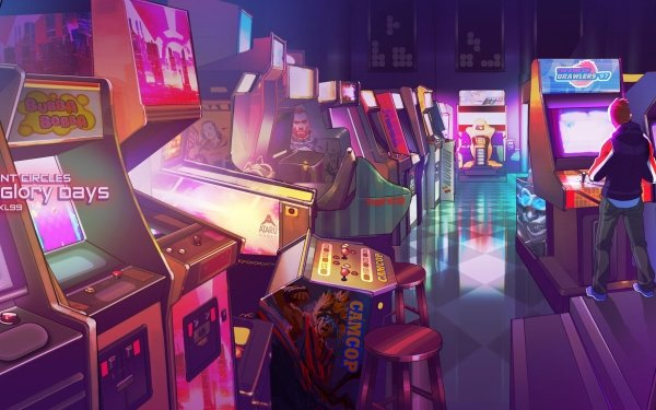 Video Game Arcade Retro Wave HD Wallpaper   Background Image