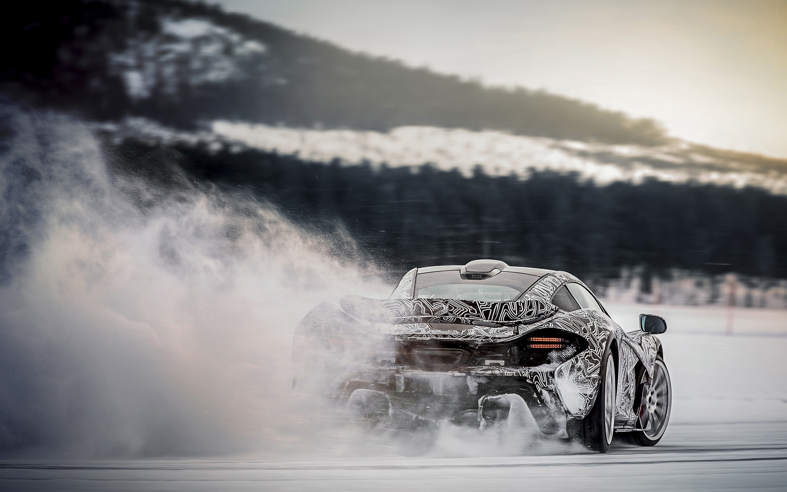 Mclaren P1 Ice Drifting HD Wallpaper | Background Image ...