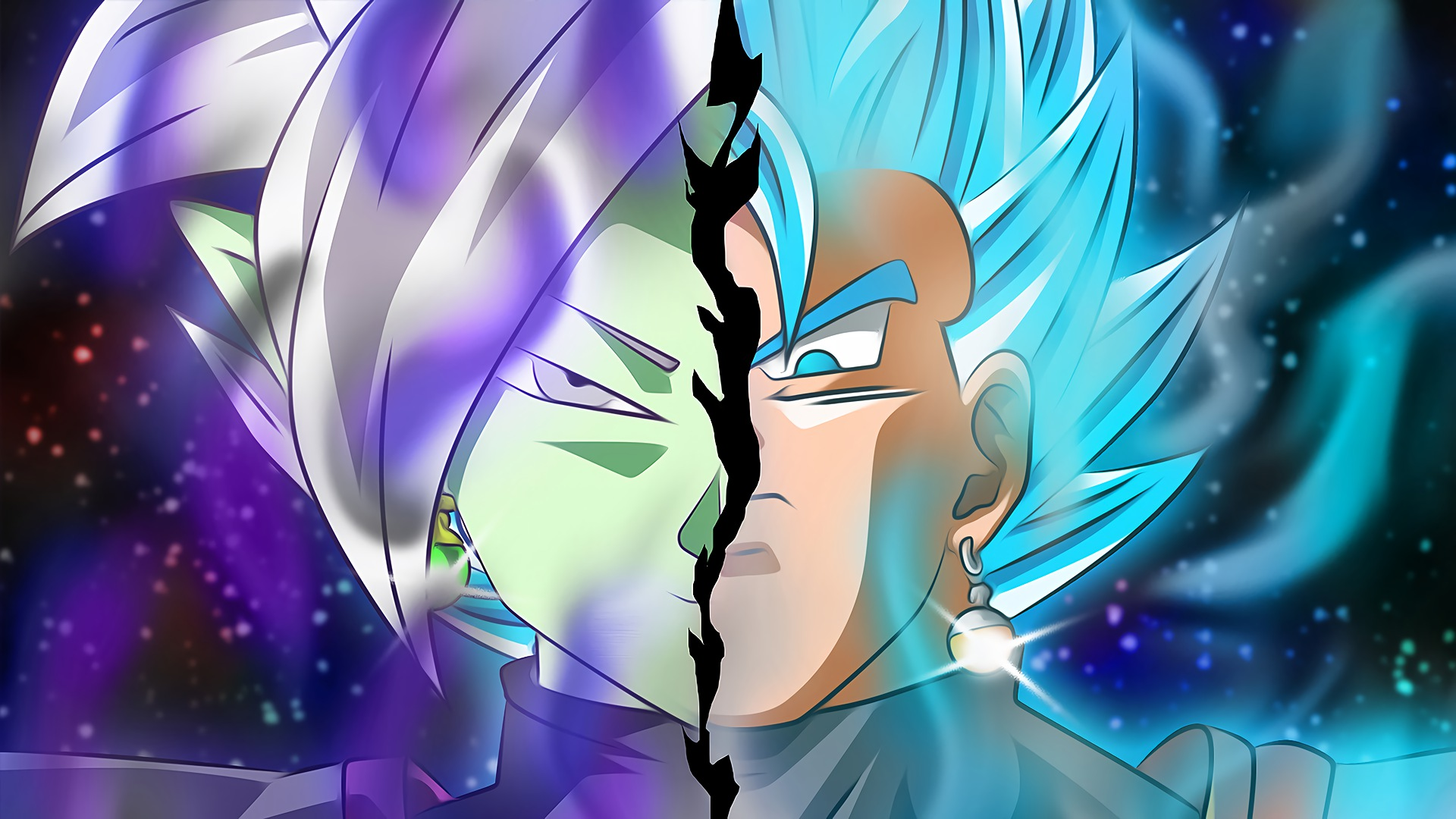 Dragon Ball Super Vegito And Fusion Zamasu Hd Wallpaper