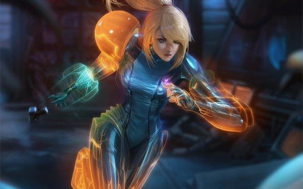 Video Game Metroid: Other M Samus Aran Bodysuit Blonde HD Wallpaper   Background Image