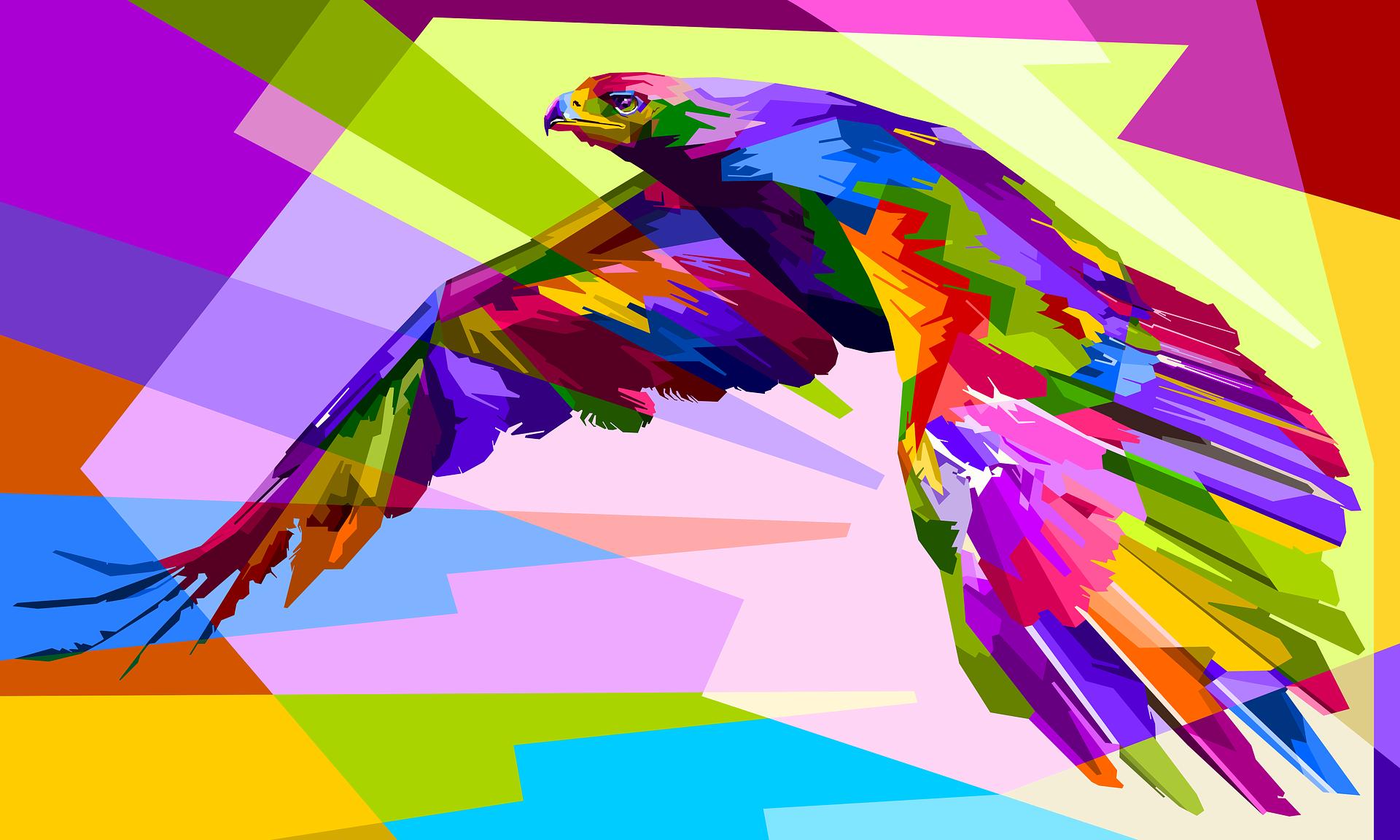 Animal - Artistic  Bird Eagle Colors Colorful Geometry Wallpaper