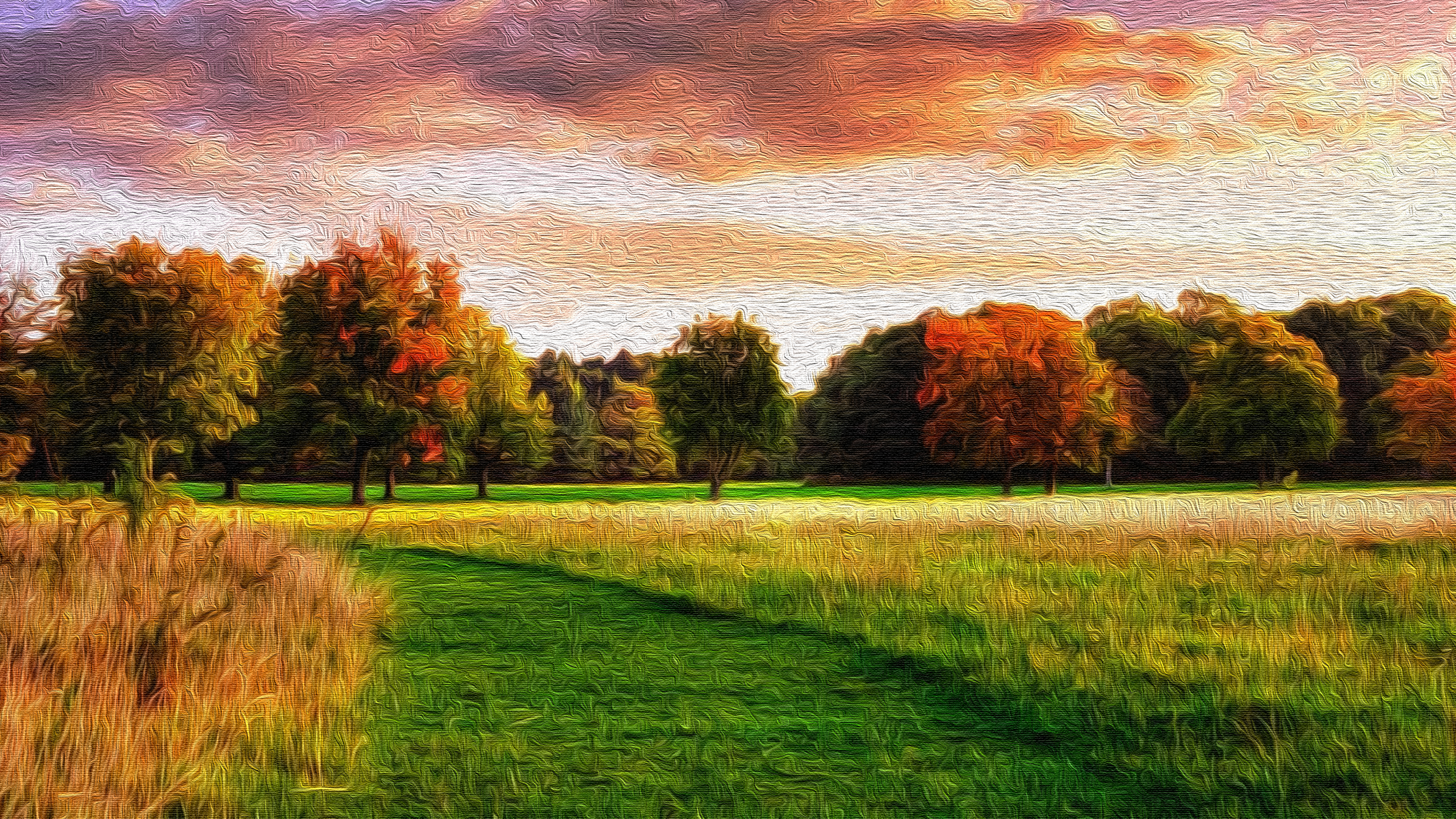 Late Summer Oil On Canvas 4k Ultra Hd Wallpaper Background Image 3840x2160 Id 927536 Wallpaper Abyss