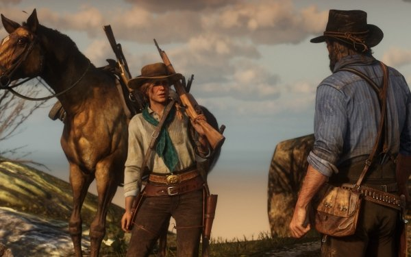 Video Game Red Dead Redemption 2 Red Dead Western Weapon Horse Cowboy Red Dead Redemption Sadie Adler HD Wallpaper | Background Image