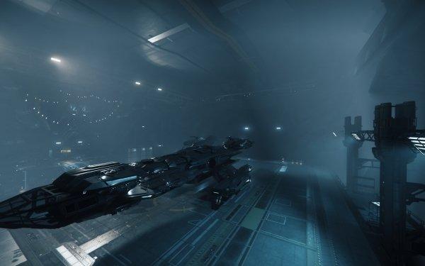 Video Game Star Citizen Constellation Levski Hangar HD Wallpaper | Background Image