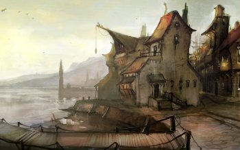 Fantasy - Großstadt Wallpapers and Backgrounds ID : 93117