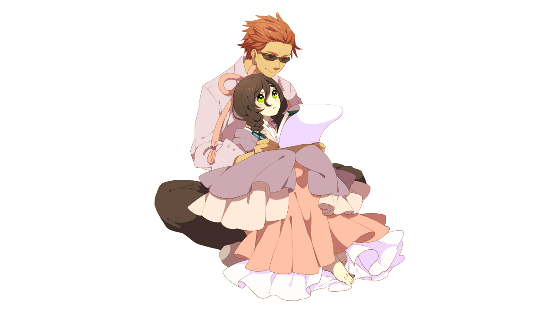 Anime Girl Anime Boy Hd Wallpaper Background Image 1920x1080