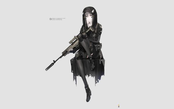 Anime Original Sniper HD Wallpaper   Background Image