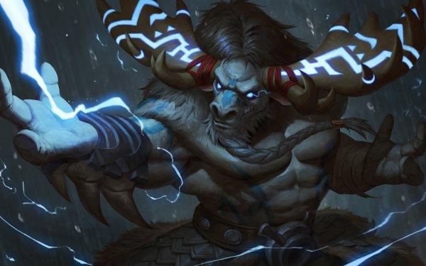 Video Game World Of Warcraft Warcraft Creature Warrior Horns Tauren HD Wallpaper   Background Image