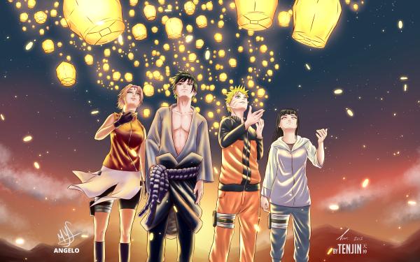 Anime Naruto Naruto Uzumaki Sasuke Uchiha Sakura Haruno Hinata Hyuga HD Wallpaper   Background Image