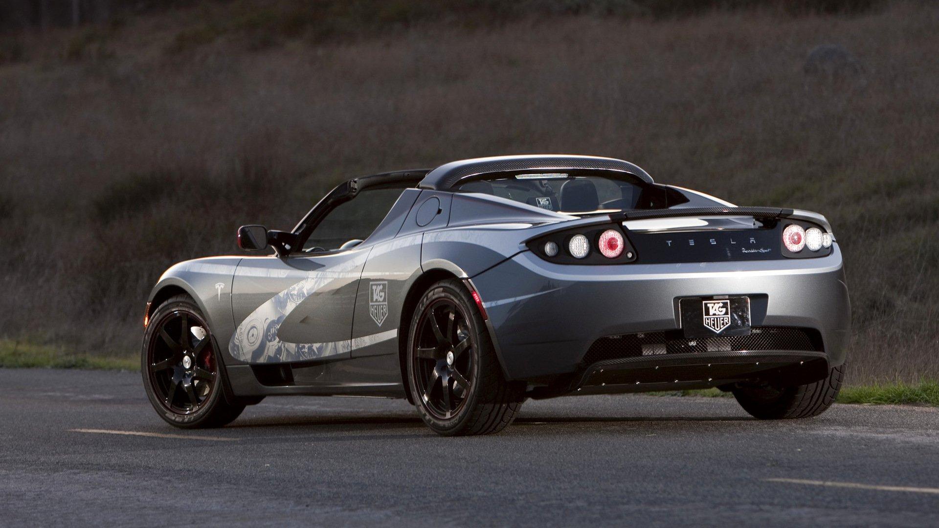 2010 tesla roadster sport hd wallpaper   background image
