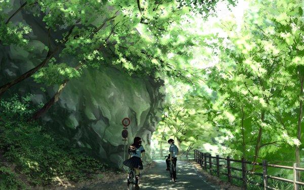 Anime Original Bike Long Hair Short Hair Black Hair HD Wallpaper   Background Image