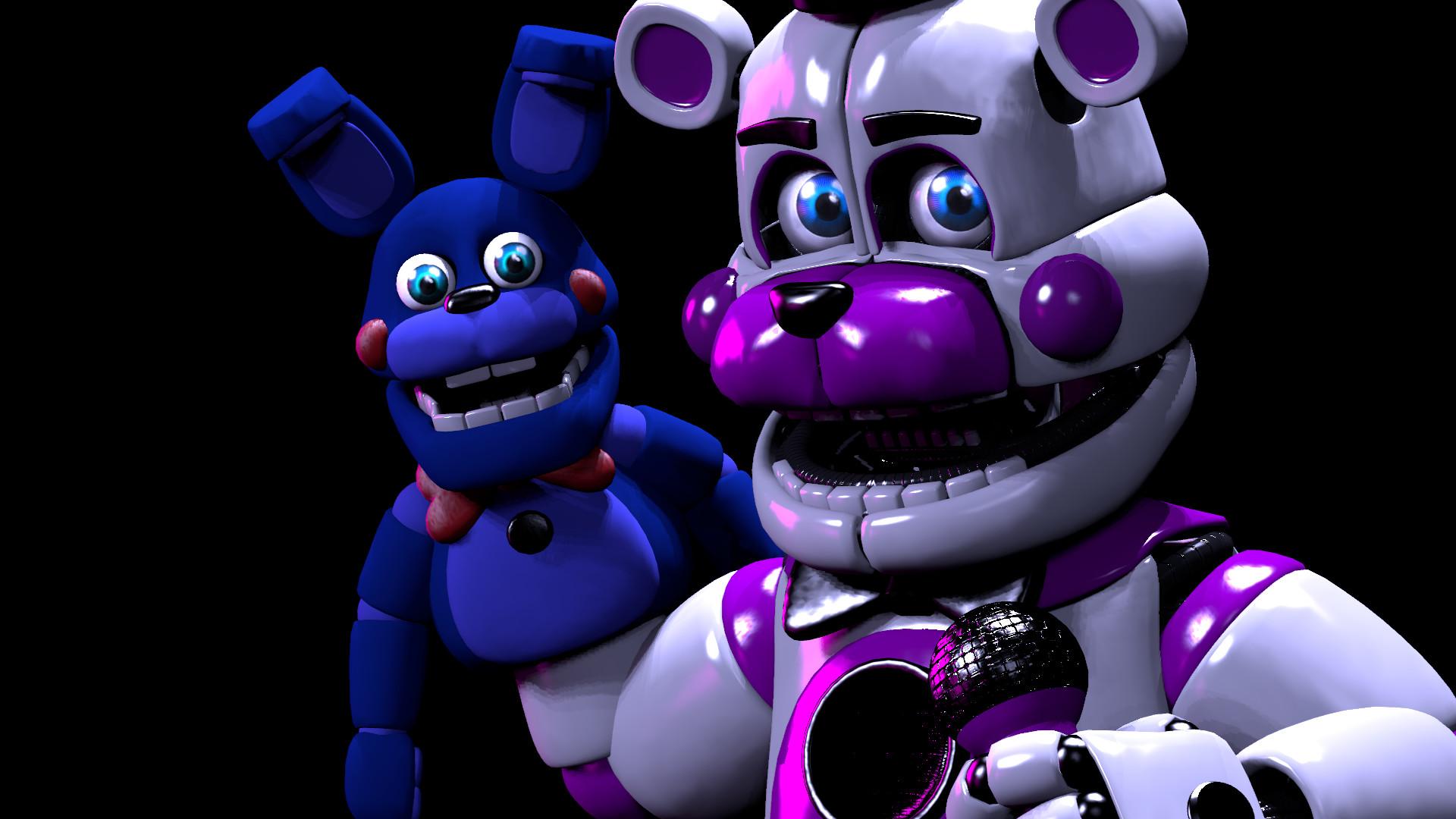 Funtime Freddy Y Bonnie Hd Wallpaper Background Image