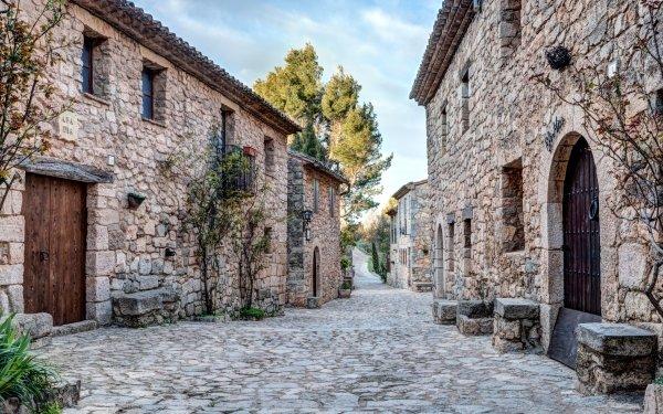 Man Made Village Catalonia HD Wallpaper | Background Image
