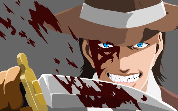 Anime Attack On Titan Kenny Ackerman Hat Blue Eyes Knife Man HD Wallpaper | Background Image
