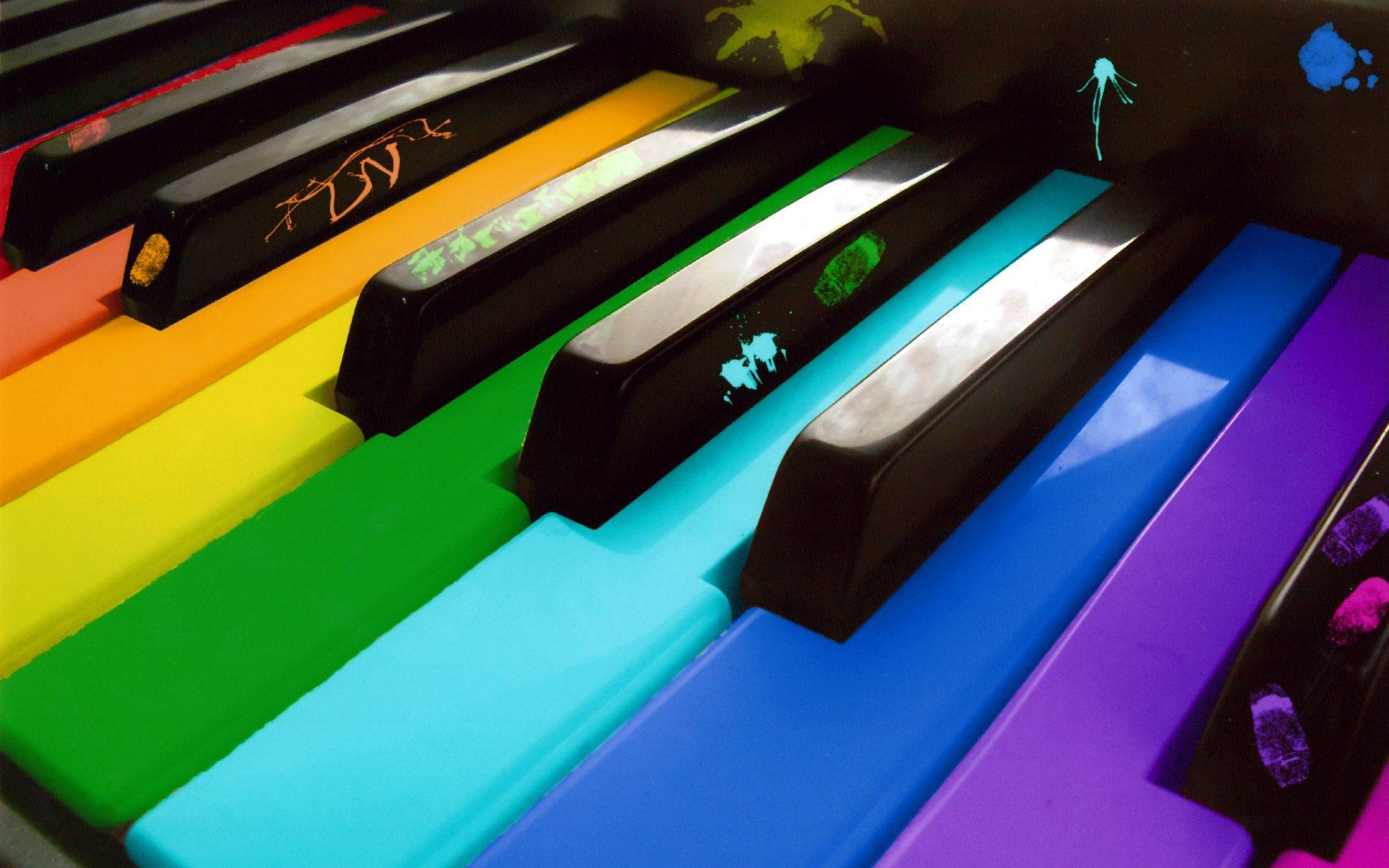 Artistique - Couleurs  Piano Fond d'écran