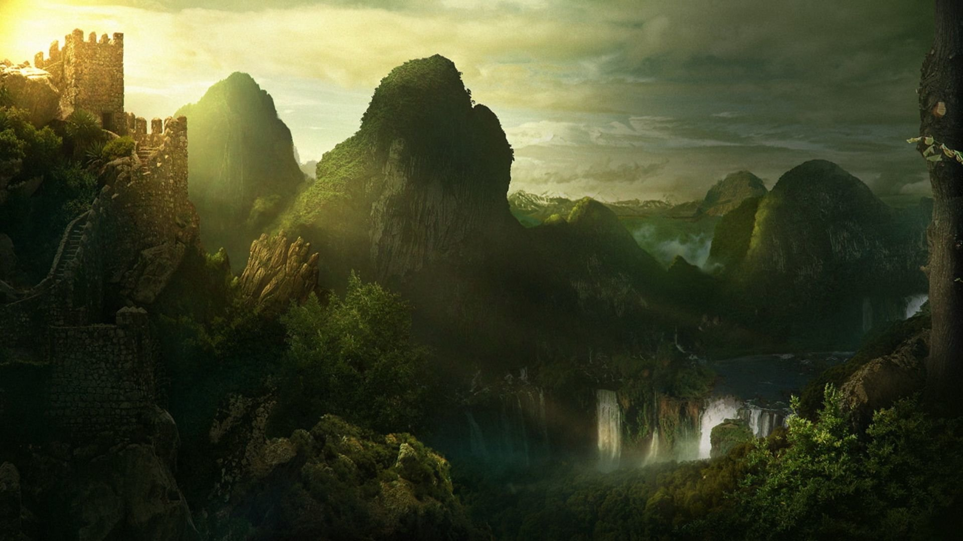 Fantasy - Landscape  Sensual Beautiful Fantasy Wallpaper
